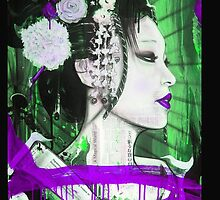 Geisha Phone Case (Purple & Green) by Tim Miklos
