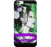 Geisha Phone Case (Purple & Green) iPhone Case/Skin
