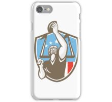 American Football Player Touchdown Goal Post Retro iPhone Case/Skin