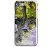 Purple Abstract Painting Print  iPhone Case/Skin