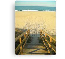 The Beach Stairs Canvas Print