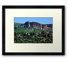 A Perched Vilage in Alpes-de-Haute-Provence, France Framed Print