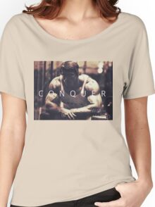 Conquer with Arnold Schwarzenegger Women's Relaxed Fit T-Shirt