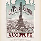 Eiffel Tower Paris France 1889 World Exposition Poster by T-ShirtsGifts