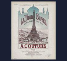 Eiffel Tower Paris France 1889 World Exposition Poster Kids Tee