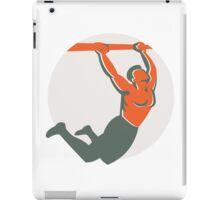 Crossfit Pull Up Bar Circle Retro iPad Case/Skin