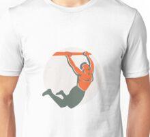 Crossfit Pull Up Bar Circle Retro Unisex T-Shirt