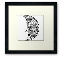 One moon Framed Print