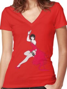 Ada pin-up Women's Fitted V-Neck T-Shirt