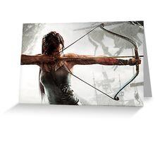 Tomb Raider - Lara Croft, hunting Greeting Card