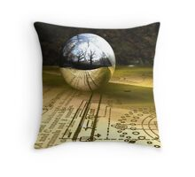 Tabletop in the Woods Throw Pillow