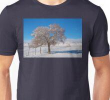 Winter Season On The Range Snow and Blue Sky Unisex T-Shirt