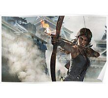 Tomb Raider - Lara Croft, Fire bow Poster