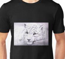 Watchful Snow Leopard Unisex T-Shirt