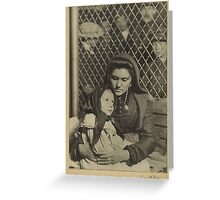 Woman and Child, Ellis Island 1908 Photograph Greeting Card