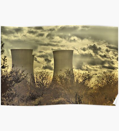 Richborough Power Station Poster