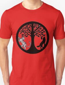 Tiger Tree and Wolf Unisex T-Shirt