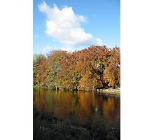 River Tweed Autumnal Colours and Blue Sky Photographic Print