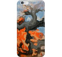 Orange Blue Abstract Print  iPhone Case/Skin
