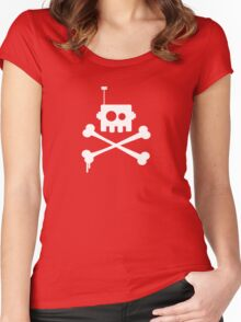 Robot Pirate Women's Fitted Scoop T-Shirt