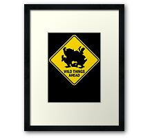 Wild Things Ahead Framed Print
