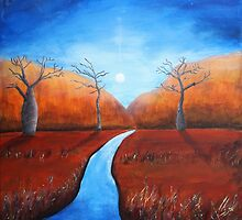 Moon over Piccaninny Creek by Eveline R