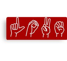 LOVE - sign language Canvas Print