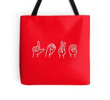LOVE - sign language Tote Bag