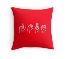 LOVE - sign language Throw Pillow