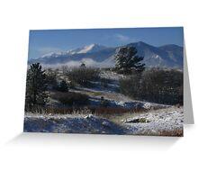 Pike's Peak, Winter Wonderland, Colorado Springs, CO 2007 Greeting Card