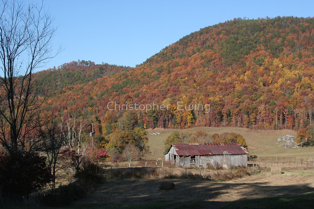 rural mountain life in the fall by Christopher  Ewing