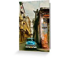havana street scene Greeting Card