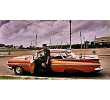 man and his car Photographic Print