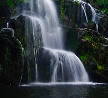 Owharoa Falls, Season's Greetings by Steven Weeks