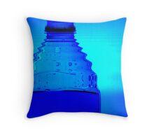 Blue Bottle Throw Pillow