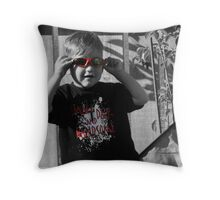 small dark and handsome Throw Pillow