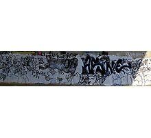 Black and White Graffiti - Panoramic Photographic Print