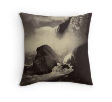 Niagara Falls around 1888 Photograph Throw Pillow