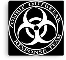 Zombie Outbreak Response Team - dark Canvas Print