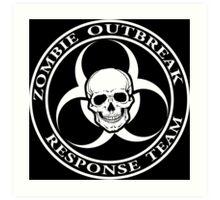 Zombie Outbreak Response Team w/ skull - dark Art Print