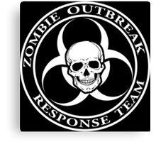 Zombie Outbreak Response Team w/ skull - dark Canvas Print