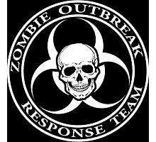 Zombie Outbreak Response Team w/ skull - dark Photographic Print
