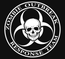 Zombie Outbreak Response Team w/ skull - dark by ianscott76