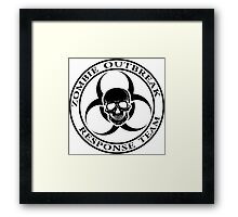 Zombie Outbreak Response Team w/ skull - light Framed Print