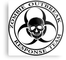 Zombie Outbreak Response Team w/ skull - light Metal Print