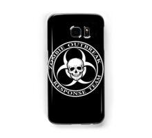 Zombie Outbreak Response Team w/ skull - dark Samsung Galaxy Case/Skin