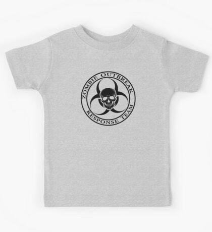 Zombie Outbreak Response Team w/ skull - light Kids Tee