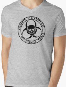 Zombie Outbreak Response Team w/ skull - light Mens V-Neck T-Shirt