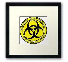 Zombie Outbreak Response Team - yellow Framed Print