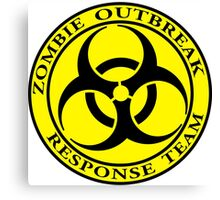 Zombie Outbreak Response Team - yellow Canvas Print